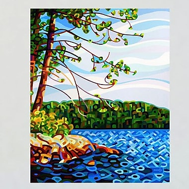 My Wonderful Walls Abstract Lake View from Mazengah Wall Decal; Large