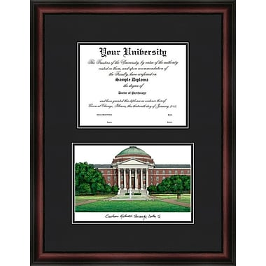 Campus Images NCAA Diplomate Diploma Picture Frame; SMU Mustangs