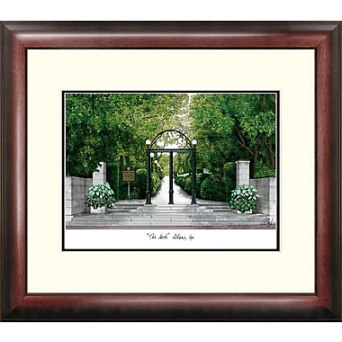 Campus Images Alumnus Lithograph Framed Photographic Print; Georgia Bulldogs
