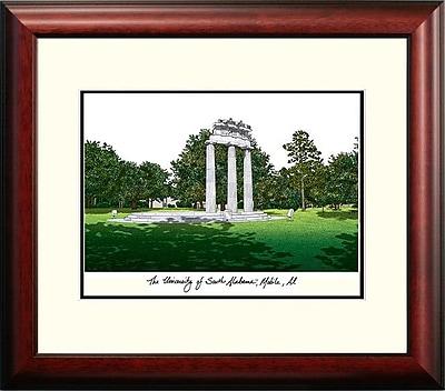 Campus Images Alumnus Lithograph Framed Photographic Print; South Alabama Jaguars