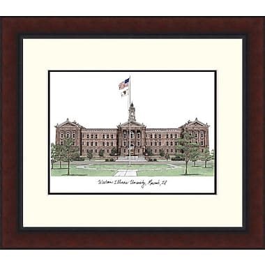 Campus Images Legacy Alumnus Lithograph Picture Frame; Western Illinois Leathernecks