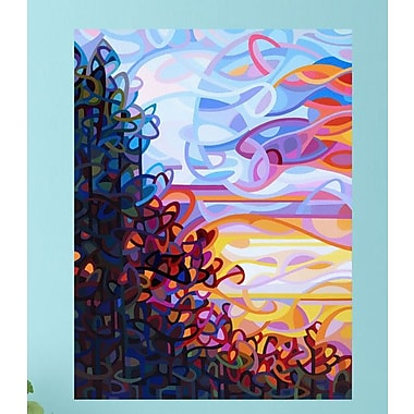 My Wonderful Walls Abstract Trees at Sunset Crescendo Wall Decal; Extra Large