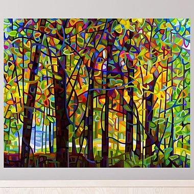 My Wonderful Walls Abstract Forest Landscape Standing Room Only Wall Decal; Extra Large