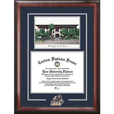Campus Images NCAA Spirit Graduate Diploma Picture Frame; UTEP Miners