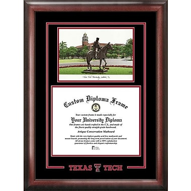 Campus Images NCAA Spirit Graduate Diploma Picture Frame; Texas Tech Red Raiders