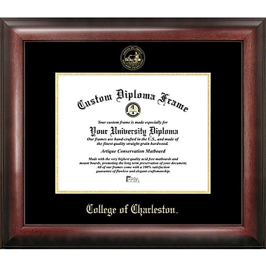 Campus Images NCAA Gold Embossed Diploma Picture Frame; College of Charleston Cougars