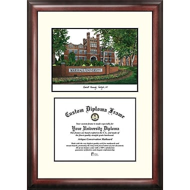 Campus Images NCAA Scholar Diploma Picture Frame; Marshall Thundering Herd