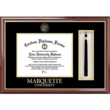 Campus Images NCAA Tassel Box and Diploma Picture Frame; Marquette Golden Eagles
