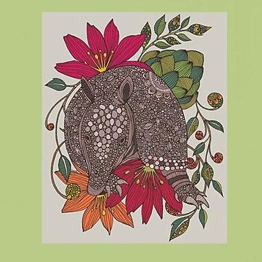 My Wonderful Walls Floral Armadillo Wall Decal; Medium