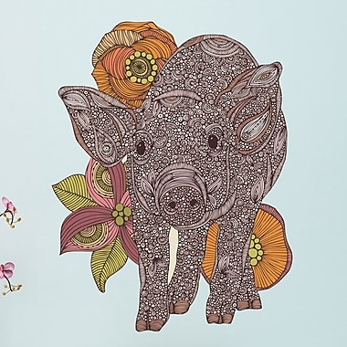 My Wonderful Walls Floral Pig Wall Decal; Extra Large