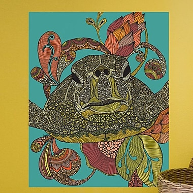 My Wonderful Walls Floral Sea Turtle Wall Decal; Small