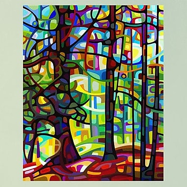 My Wonderful Walls Abstract Forest After the Rain Wall Decal; Large