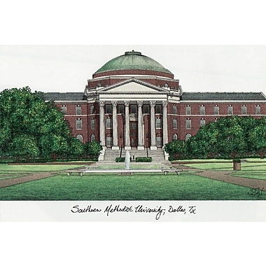 Campus Images NCAA Campus Images Lithograph Photographic Print; SMU Mustangs