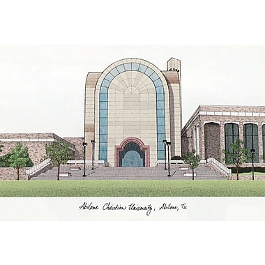 Campus Images NCAA Campus Images Lithograph Photographic Print; Abilene Wildcats
