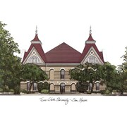 Campus Images NCAA Campus Images Lithograph Photographic Print; Texas State Bobcats