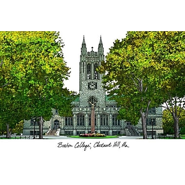 Campus Images NCAA Campus Images Lithograph Photographic Print; Boston College Eagles
