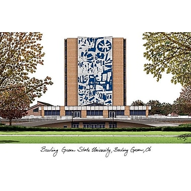 Campus Images NCAA Campus Images Lithograph Photographic Print; Bowling Green State Falcons
