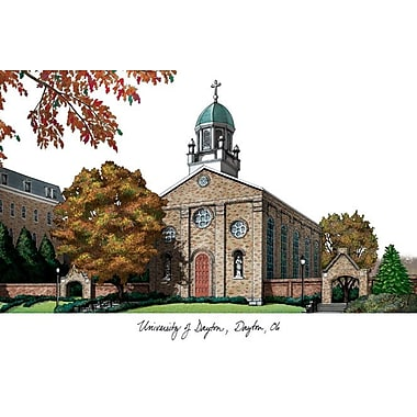 Campus Images NCAA Campus Images Lithograph Photographic Print; Dayton Flyers