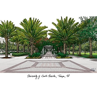 Campus Images NCAA Campus Images Lithograph Photographic Print; South Florida Bulls