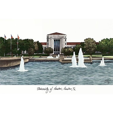 Campus Images NCAA Campus Images Lithograph Photographic Print; Houston Cougars