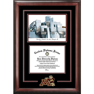 Campus Images NCAA Spirit Graduate Frame Diploma Picture Frame; Minnesota Golden Gophers