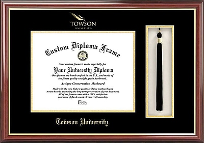 Campus Images NCAA Tassel Box and Diploma Picture Frame; Towson Tigers