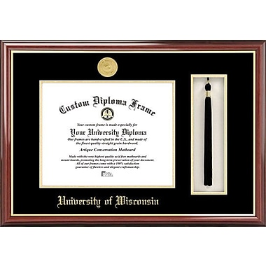Campus Images NCAA Tassel Box and Diploma Picture Frame; Wisconsin Badgers