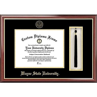 Campus Images NCAA Tassel Box and Diploma Picture Frame; Wayne State Warriors