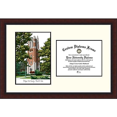 Campus Images NCAA Legacy Scholar Diploma Picture Frame; Michigan State Beaumont Hall University