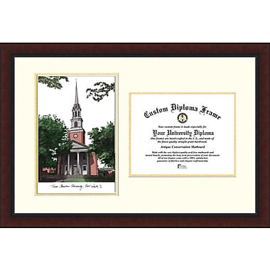 Campus Images NCAA Legacy Scholar Diploma Picture Frame; TCU Horned Frogs