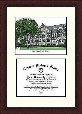 Campus Images NCAA Legacy Scholar Diploma Picture Frame; Tulane Green Wave