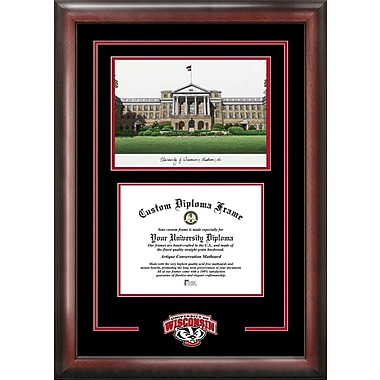 Campus Images NCAA Spirit Graduate w/ Campus Image Picture Frame; Wisconsin Badgers