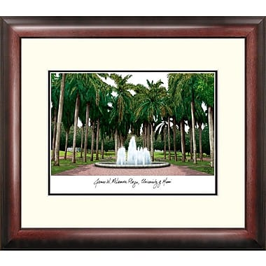 Campus Images NCAA Alumnus Lithograph Framed Photographic Print; Miami Hurricanes