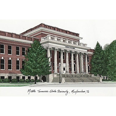 Campus Images NCAA Campus Images Lithograph Photographic Print; Mid. Tenn. St. Blue Raiders