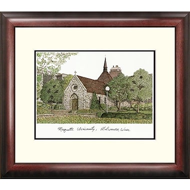 Campus Images NCAA Alumnus Lithograph Framed Photographic Print; Marquette Golden Eagles