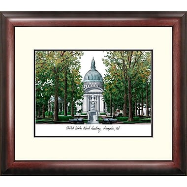 Campus Images NCAA Alumnus Lithograph Framed Photographic Print; Navy Midshipmen