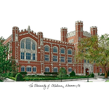 Campus Images NCAA Campus Images Lithograph Photographic Print; Oklahoma Sooners