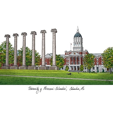 Campus Images NCAA Campus Images Lithograph Photographic Print; Missouri Tigers