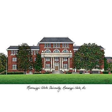 Campus Images NCAA Campus Images Lithograph Photographic Print; Mississippi State Bulldogs