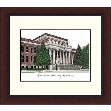 Campus Images NCAA Legacy Alumnus Lithograph Picture Frame; Mid. Tenn. St. Blue Raiders