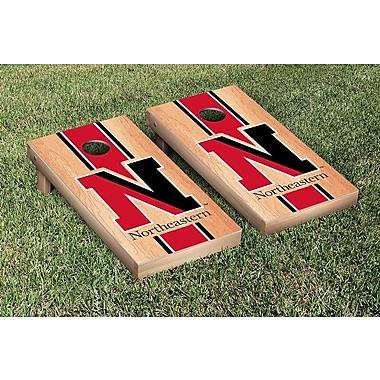 Victory Tailgate NCAA Northeastern NU Huskies Hardcourt Border Stripe Version Cornhole Game Set