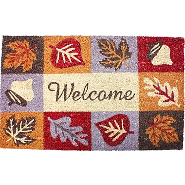 J&M Home Fashions Harvest Welcome Icons Doormat
