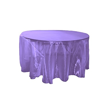 LA Linen Organza Sheer Round Tablecloth; Purple