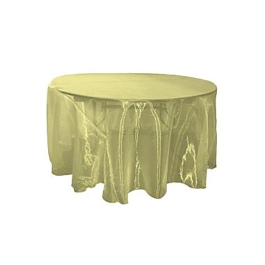 LA Linen Organza Sheer Round Tablecloth; Gold