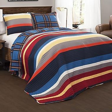 Lush Decor Cliveden Stripe Quilt Set; Twin