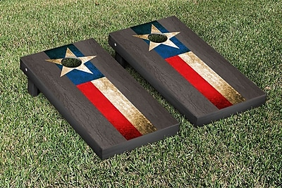 Victory Tailgate Onyx Stained Stripe Version Cornhole Game Set; Texas