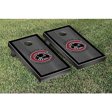 Victory Tailgate NCAA Chapman Panthers Onyx Stained Border Version Cornhole Game Set