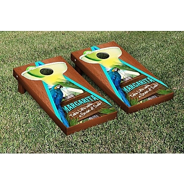 Victory Tailgate Margarita Beach Themed Rosewood Stained Triangle Version 1 Cornhole Game Set