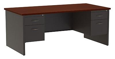 Hirsh Industries Computer Desk; Charcoal/Mahogany