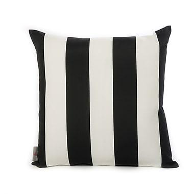 HRH Designs Cabana Throw Pillow; Black